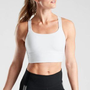 NWT Athleta White Hyper Focused Longline Bra